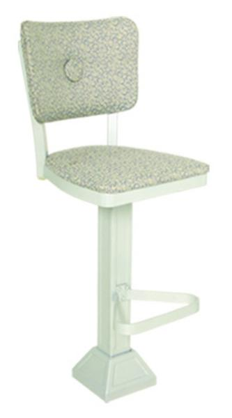 Vitro 1800OX10 Oxford Series Bar Stool, Button Back, Pedestal Base