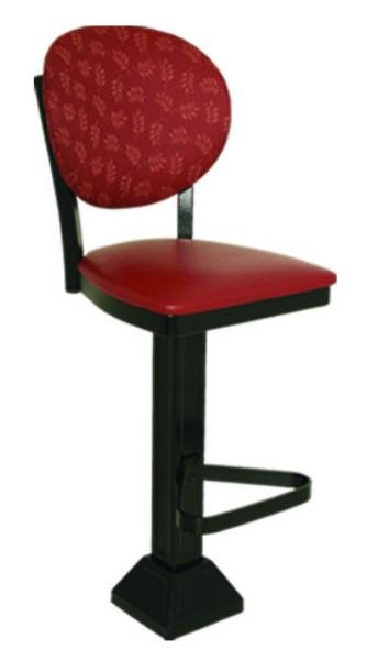 Vitro 1800OX20 Oxford Series Bar Stool, Round Back, Pedestal Base