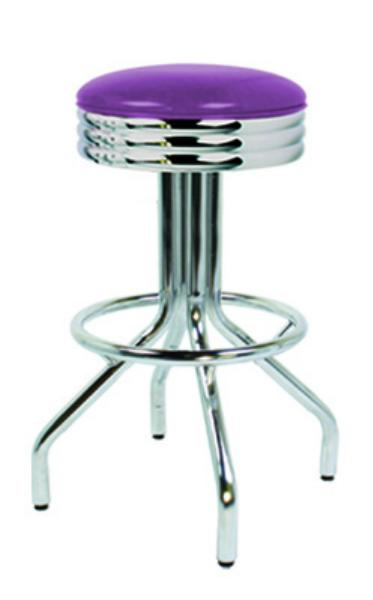 Vitro 25049ns Bar Stool Revolving Seat Scalloped Ring
