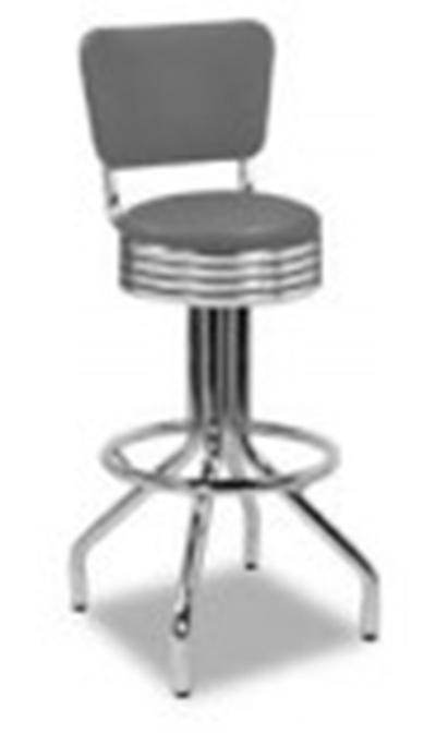 Vitro 250 782 Rb Barstool W Revolving Grooved Ring Seat