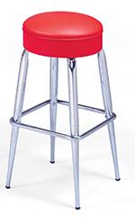 Vitro 265125R Bar Stool, Revolving Seat, Metal Paint, Tapered Legs