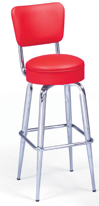 Vitro 265125rb Bar Stool Revolving Seat Amp Back Metal