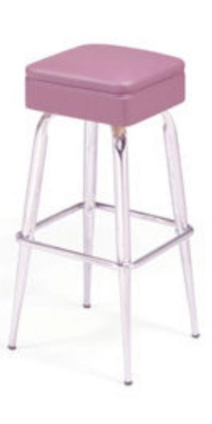 Vitro 265214 Bar Stool, Non-Revolving Square Seat, Metal Paint, Tapered Legs