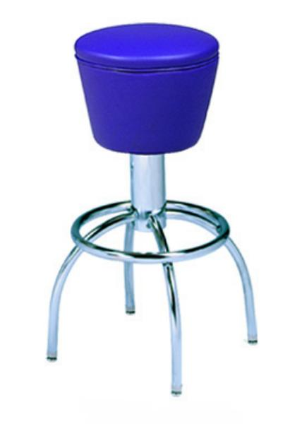 Vitro 300161 Bar Stool Revolving Mushroom Seat Chrome