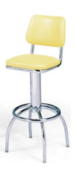 Vitro 300530 Bar Stool Revolving Seat Amp Back Chrome
