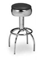 Vitro 300-781 Arch Leg Barstool w/ Chrome Swivel Seat Ring, 6-