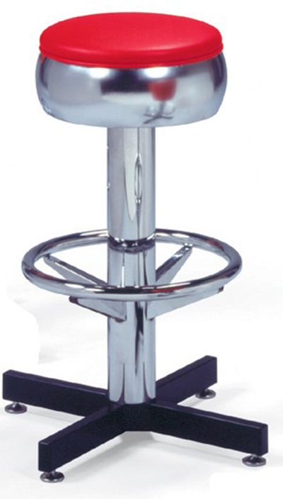 Vitro 500781 Bar Stool Revolving Seat Chrome Column