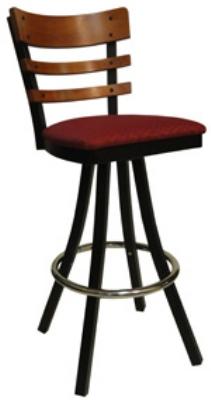 Vitro 600 Inn 2120 Bs Ps Horizontal Wood Ladder Back Bar