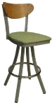 Vitro 600-INN-2220 BS PS Curved Wood Back Bar Stool w/ 1.25-in Pull Seat &amp
