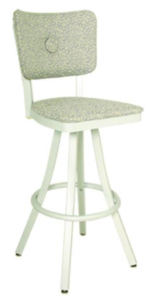 Vitro 600OX10 Oxford Series Bar Stool, Button Back, Free Standing Swivel, Metal Frame