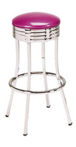Vitro 752 Economy Bar Stool, Square Tubing, Chrome
