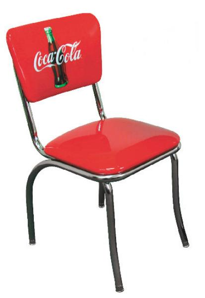 Vitro 921CBB Diner Chair, Coke Red Disc Icon, Chrome