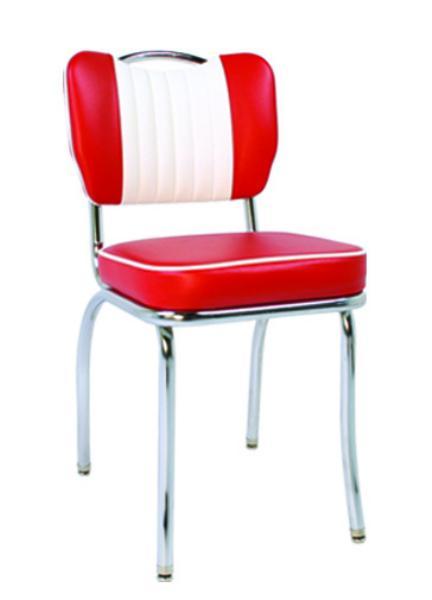 Vitro 921HBSHMB Classic Diner Chair, Malibu Back w/ Handle, 2 in Sewn Hood Seat, Chrome