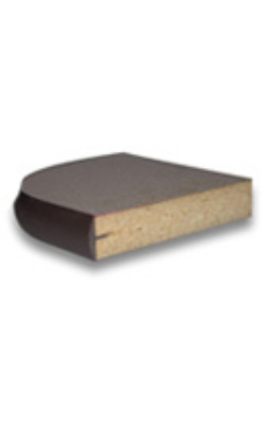 "Vitro BE 125 30R SP Table Top Laminate 1-1/4"" x 1/4"" Thick Black Bumper Edge 30 in Diameter Restaurant Supply"