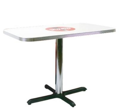 Vitro BGA1252442CBB Coke Red Disc Icon Table, 24 in x 42 in Rectangular Top, 30 in Dining Height