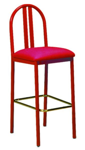 Vitro DSBSPS Omni Series Bar Stool, Double Slat Back, Metal Frame