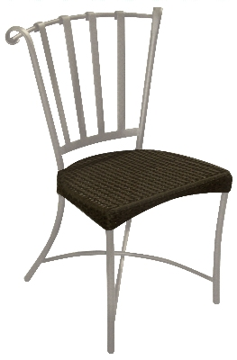 Vitro HBSC-100 60 Holland Bistro Side Chair Java Frame/Mocha Restaurant Supply