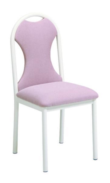 Vitro HGPS Omni Series Chair, Upholstered Hour Glass Back, Metal Frame