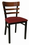 Vitro INN-2100 PS Horizontal Wood Ladder Back Chair w/ 1.25-in Pull Seat & Square Steel Tubing