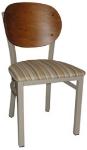 Vitro INN-2300 PS Round Wood Back Chair w/ 1.25-in Pull Seat & 16-ga Square Steel Tubing