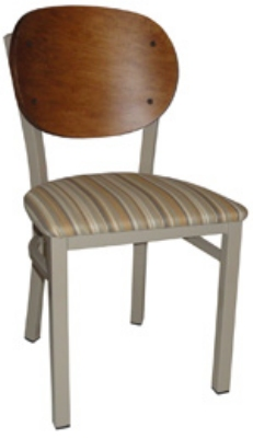 Vitro INN-2300 PS Round Wood Back Chair w/ 1.25-in Pull Seat & 16-ga Square Steel Tubing