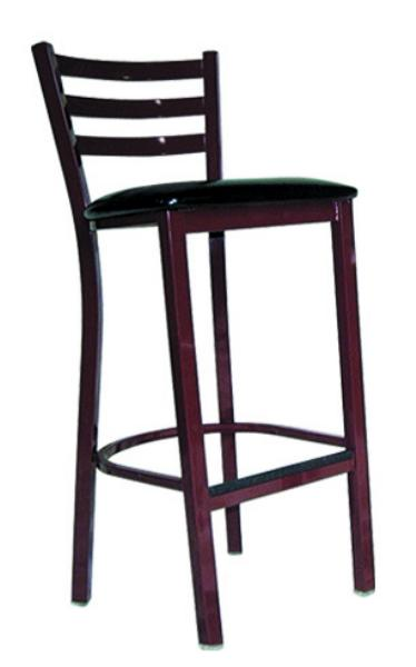 Vitro LSC1750 Legend Series Bar Stool 3 Rung Ladder Back Metal Frame Restaurant Supply