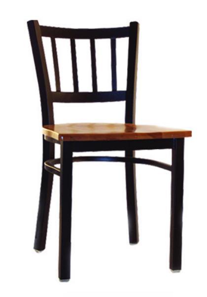 Vitro LSC350 Legend Series Chair, Vertical Slat Back, Metal Frame