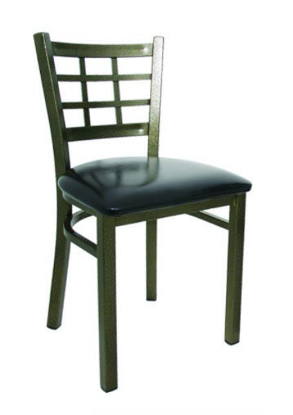 Vitro LSC475 Legend Series Chair, Lattice Back, Metal Frame