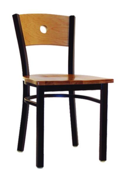 Vitro LSC550 Legend Series Chair, Wood Moon Back, Metal Frame