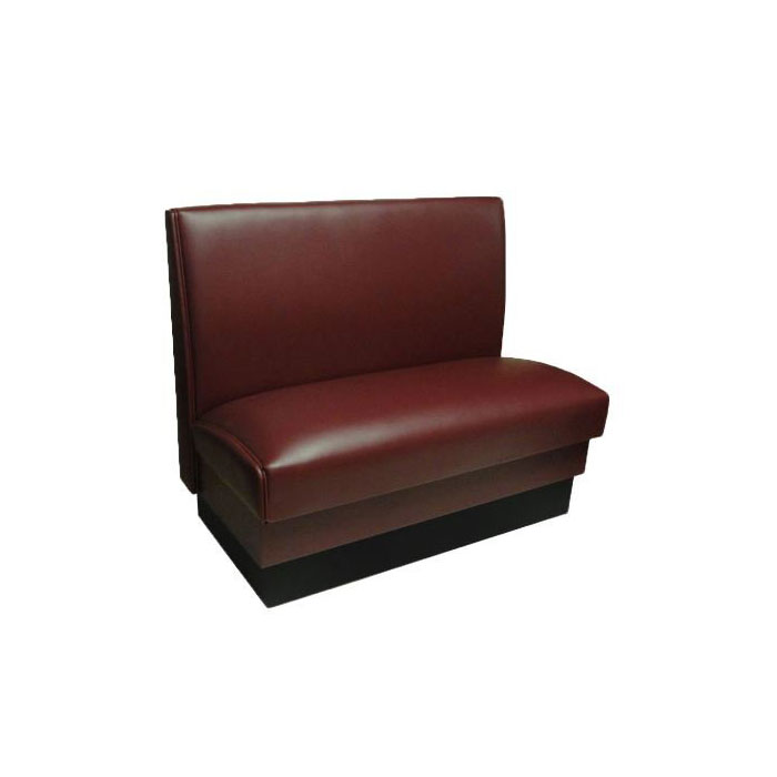 "Vitro MD-1000-SGL BLK Single Restaurant Booth - Smooth Back, Fully Upholstered, 36"" x 44"", Black"