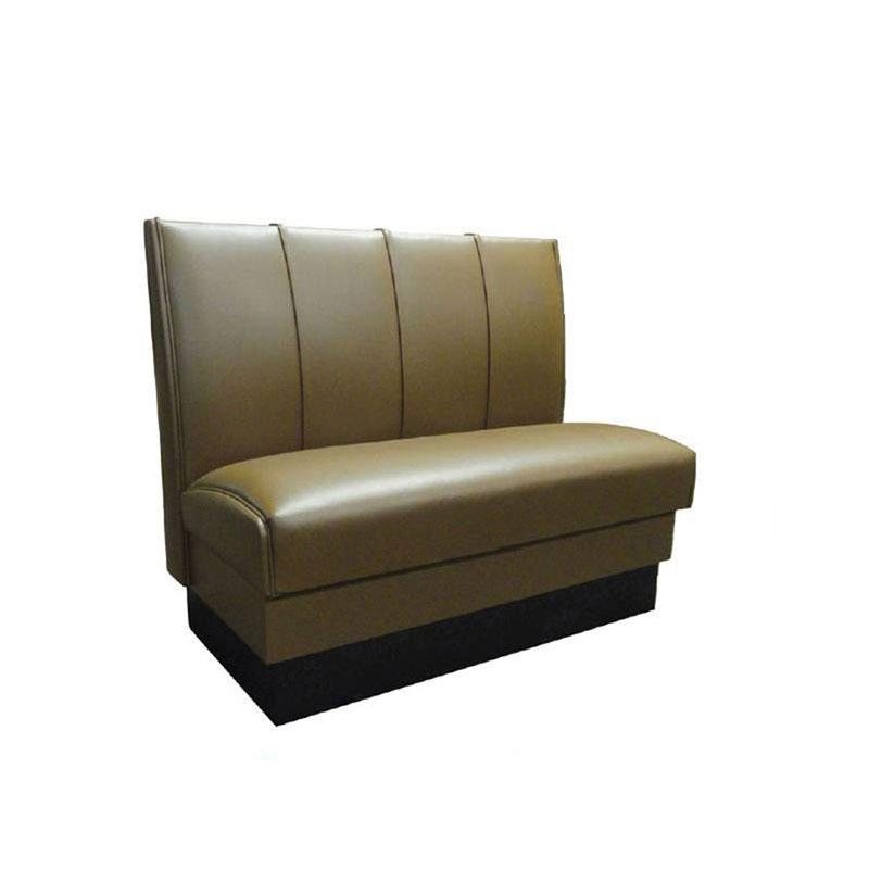 """Vitro MD-4000-SGL SAD Single Restaurant Booth - (4) Panels, Fully Upholstered, 36"""" x 44"""", Saddle"""
