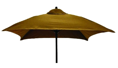 Vitro MLU-6-SQ 50 5700 Square Umbrella 6-ft High w/ Black Pole Taupe Restaurant Supply