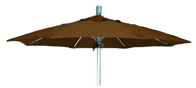 Vitro MLU-7-OCT 70 5793 Octagonal Umbrella, 7-ft High w/ Platinum Pole, Platinum