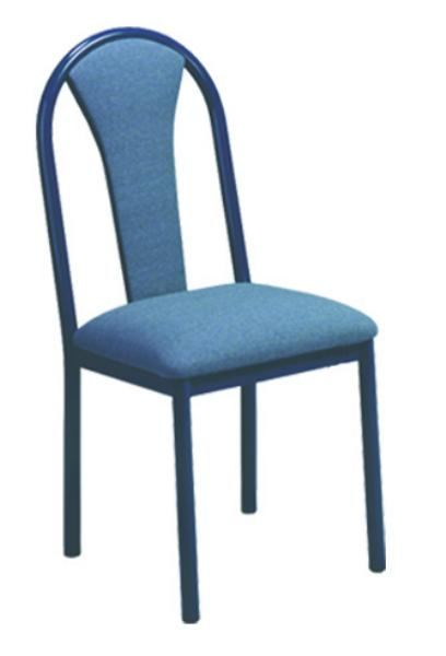 Vitro MRPS Omni Series Chair, Upholstered Mushroom Back, Metal Frame