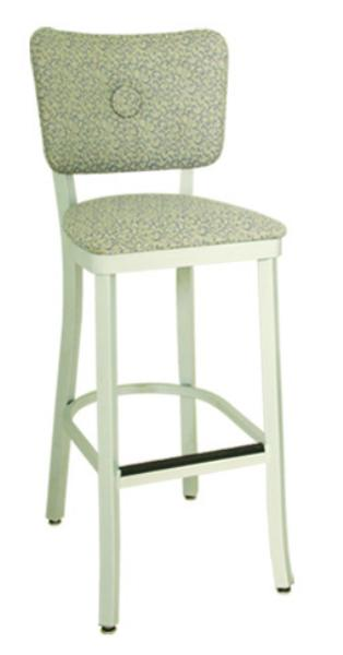 Vitro OX110BS Oxford Series Bar Stool, Button Back, Free Standing, Metal Frame