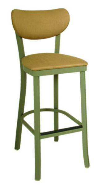 Vitro OX140BS Oxford Series Bar Stool, Banana Back, Free Standing, Metal Frame