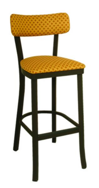 Vitro OX150BS Oxford Series Bar Stool, Sled Back, Free Standing, Metal Frame