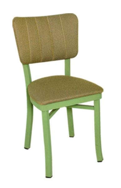 Vitro OX30 Oxford Series Chair, Channel Back, 1 in Pulled Seat, Metal Frame