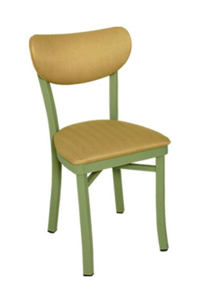 Vitro OX40 Oxford Series Chair, Banana Back, 1 in Pulled Seat, Metal Frame