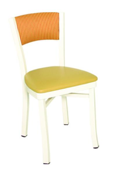 Vitro OX60 Oxford Series Chair, Plain Back, 1 in Pulled Seat, Metal Frame