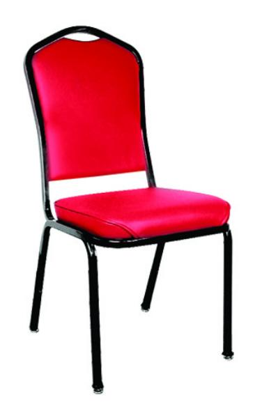 Vitro RO150SH Stacker Series Chair, High Crowned Back, 2 in Sewn Seat, Metal Frame