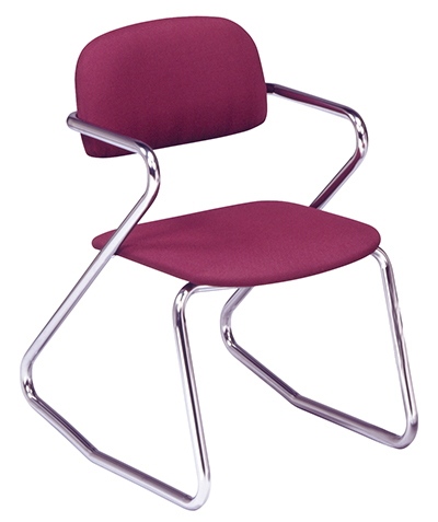 Vitro S-3 Tilting Dormitory Chair w/ 1-in Pulled Seat & Chrome Finish, Chrome Finish