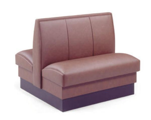Vitro SR1SGL44 Sierra Series Booth Fully Upholstered 3 Panel Back 44 in Single Restaurant Supply