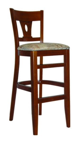Vitro WLS1190BS Woodland Series Bar Stool Lido Back Upholstered Seat Wood Frame Restaurant Supply