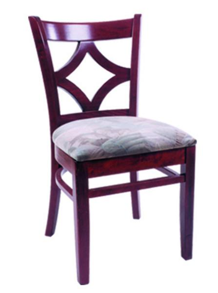 Vitro WLS130 Woodland Series Chair, Diamond Back, Upholstered Seat, Wood Frame