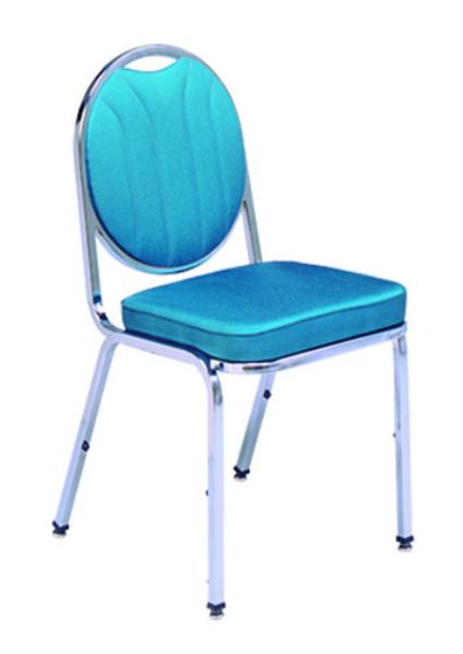 Vitro X37ISCB Stacker Series Chair, Channel Back, 2 in Sewn Seat, Metal Frame