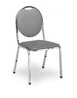 Vitro X-38 Oval Back Chair 1-in Pulled Seat, 1-Platform Glide & 16-ga Frame