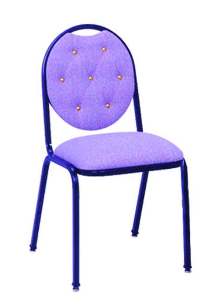 Vitro X38LSDT Stacker Series Chair, Diamond Back, 2 in Pulled Seat, Metal Frame