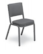Vitro X-43 Curved Back Chair w/ 1-in Pulled Seat & 1x1-in Platform Glide