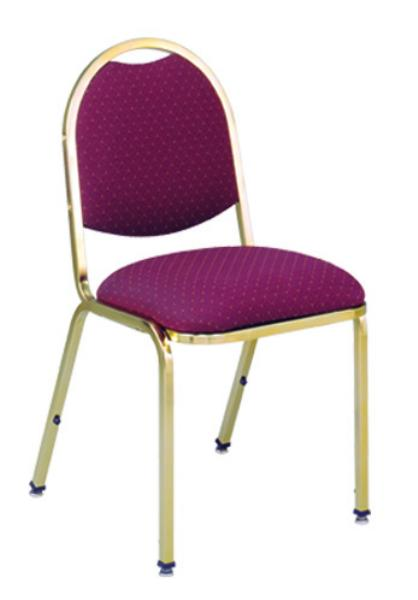 Vitro X45LS Stacker Series Chair, Arch Back, 2 in Pulled Seat, Metal Frame